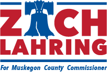 Logo for Zach Lahring, who is runing for Muskegon County Commissioner: Fruitport, Sullivan and Ravenna Township, Ad Paid for by committee to elect Zach Lahring, 719 W. Randall St., Coopersville, MI 49404